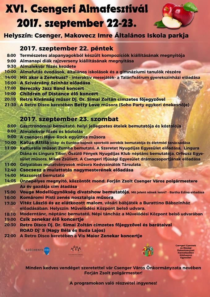 Csengeri Almanfesztivál 2017